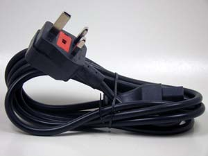WIRE,3-COND POWER CORD  IEC DETACHABLE, BRITISH
