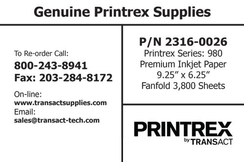 "9.25"" x 6.25"" Inkjet Fanfold (3800 Sheets)"